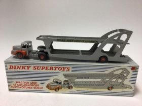 Dinky Supertoys (French issue) tracteur Unic Et Semi-Remorque Port-Voitures Bailot No. 894