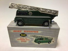 Dinky BBC TV extending mast vehicle No. 969 boxed