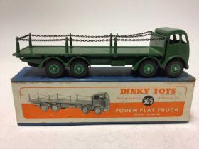 Dinky Foden flat truck with chairs No. 505 boxed