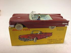 Dinky French Issue Cabriolet Ford 'Thunderbird' No 555, boxed