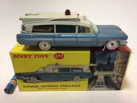 Dinky Superior Criterion ambulance with flashing red light No. 277 boxed
