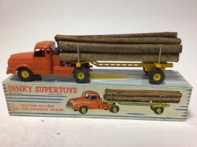 Dinky (French issue) Supertoys Williams tractor and lumber carrier No. 897 boxed