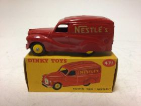 Dinky Austin Van 'Nestles' No 471, boxed
