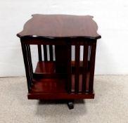 Edw Revolving Table Bookcase 36cm SQ x 44cm H