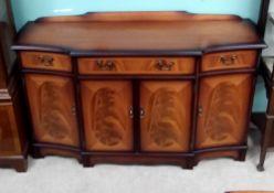 Quality Inlaid Mahogany Sideboard 140cm W 43cm D 89cm H