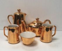 5 Pce Gold Royal Worcester Tea / Coffee Service