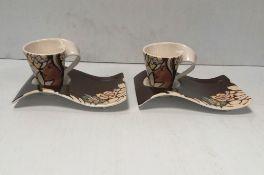 2 Villeroy & Boch Coffee Cup Set