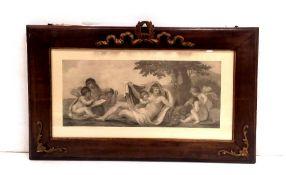 Antique Style Framed Print 87cm x 52cm H