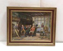 Gilt Framed Oilogram 75cm W x 59cm H