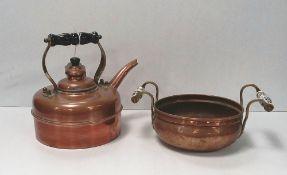 Vict Copper Kettle & Pot