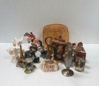 Misc Box of Porcelain Figures Etc