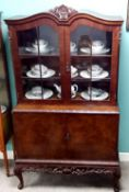 1950's Burr Walnut 2 Door Cabinet 105cm W 52cm D 177cm H