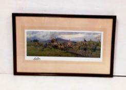 Irish Hunting Scene 'The Tipperary at Tullamaine Gorse ' By F A Stewart 82cm W x 51cm H