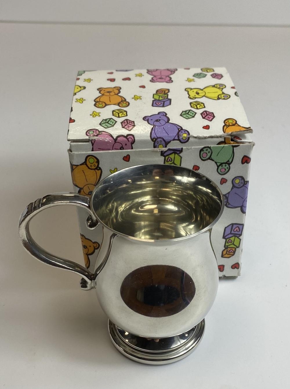 Georgian Style Pewter Baby Mug