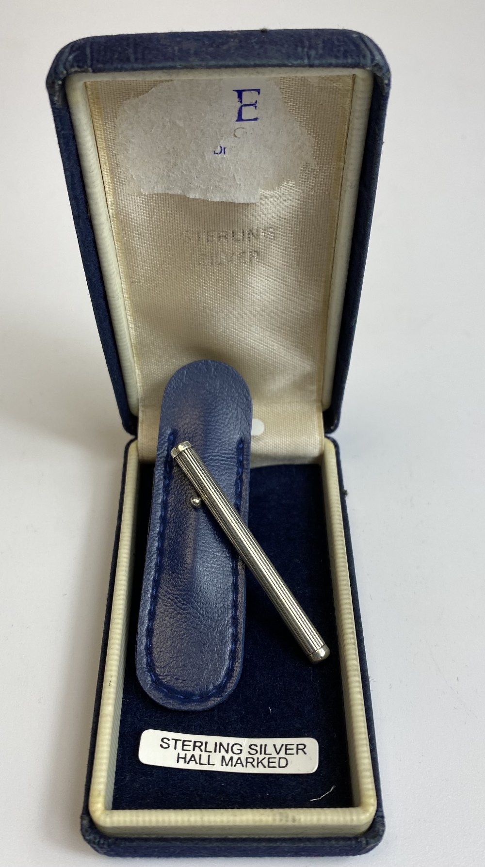 Sterling Silver Toothpick in Leather Case