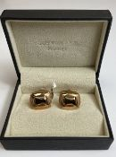 Pair of Rose Gold Plated Cufflinks