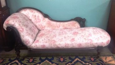 Stunning Quality Early Vict Walnut Chaise Lounge 200cm W 70cm D 84cm H