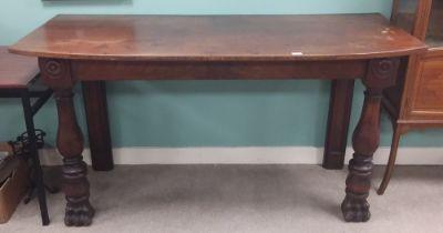 19C Mahogany Serving Table 171cm W 74cm D 89cm H