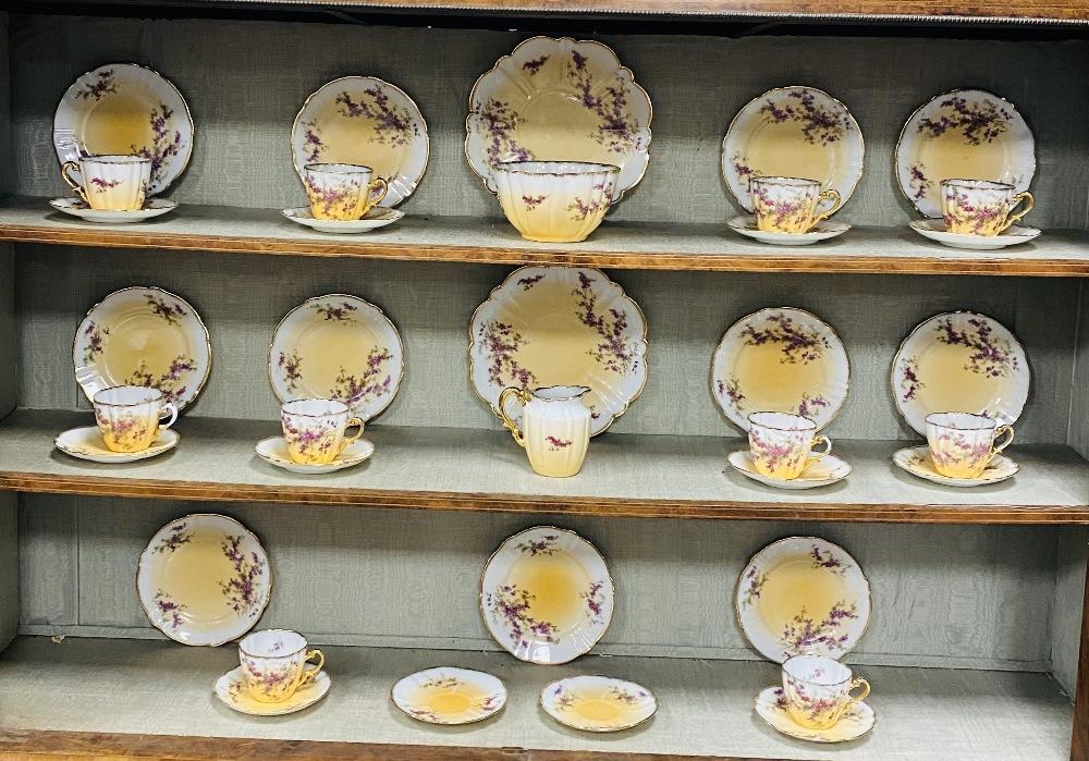 Decorative Floral Vict Tea Service,