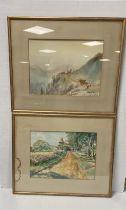 Pair of Edw Watercolours ,