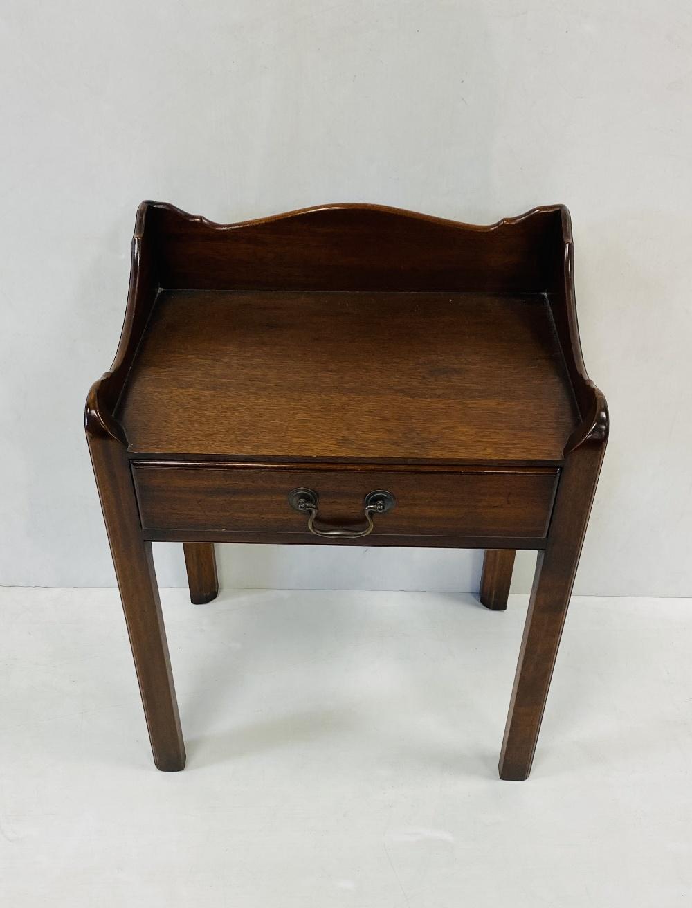 Georgian Style Mahogany 1 Drawer Side Table 49cm W 34cm D 61cm H
