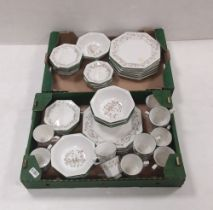 2 Boxes of Johnson Brother Dinner Service