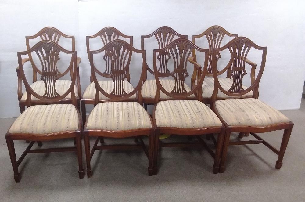 Set of 8,( 6 + 2) Mahogany Dining Room Chairs,