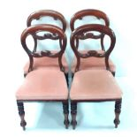 Set of 4 Good Quality Vict Balloon Back Chairs