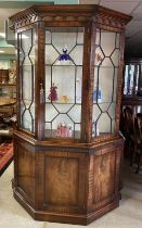Reproduction Mahogany Display Cabinet by Bevan Funnell 130cm W 47cm,