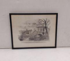 Print of Ha' penny Bridge ,