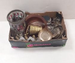 Misc Box of Glassware,