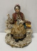 Capodimonte Figure of a Lady Seated
