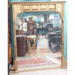Fabulous Quality 19C Gilt Overmantle Mirror 144cm W 168cm H