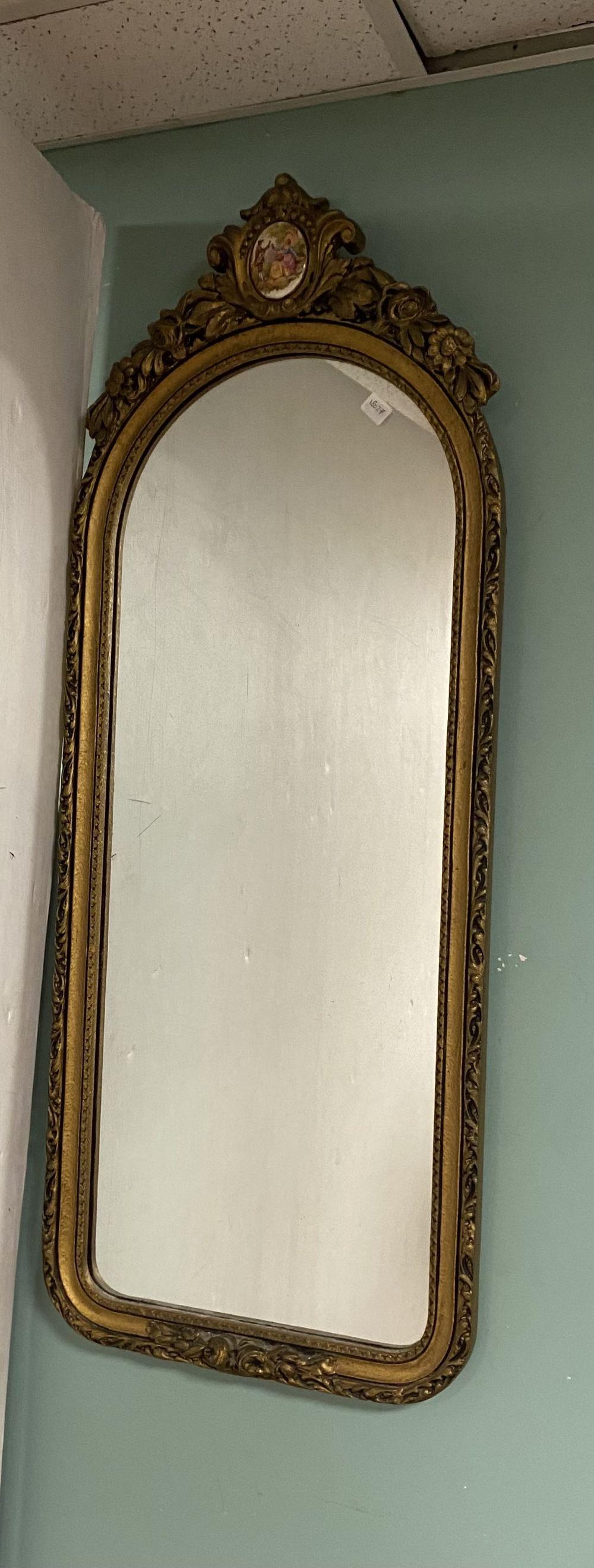French Gilt Mirror 46cm W x 100cm
