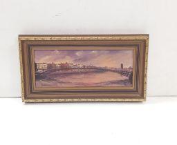 Gilt Framed Oil on Board ,