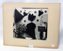 A spray mounted Frank E. Long monochrome photograph from the shop window from Paignton Carnival 1950