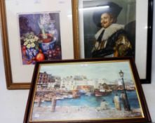 W. A. Shepherd: a framed coloured print, entitled Plymouth Barbican 1991 - bearing artist signed