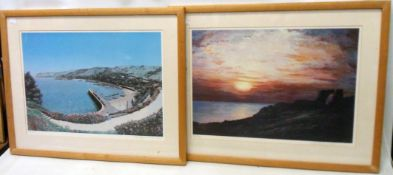 Robert John Wolfenden: two framed signed limited edition coloured prints, one entitled High Summer