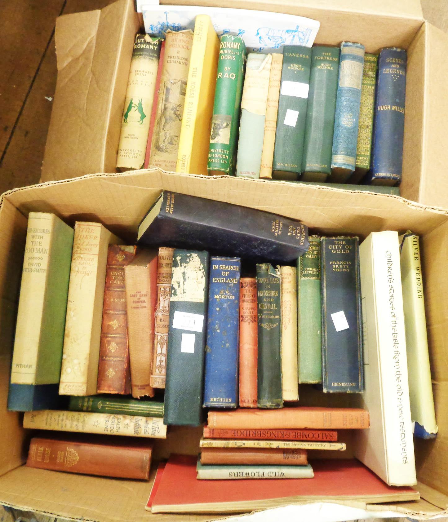 A quantity of mainly hardback books, including Hugh Walpole titles and B.B.C.'s Romany titles, etc.