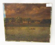 An unframed stretchered oil on canvas, bearing old label verso Hugh Kenot Upton - Kirby Cane (