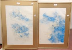 Two gilt framed and slipped faded floral prints