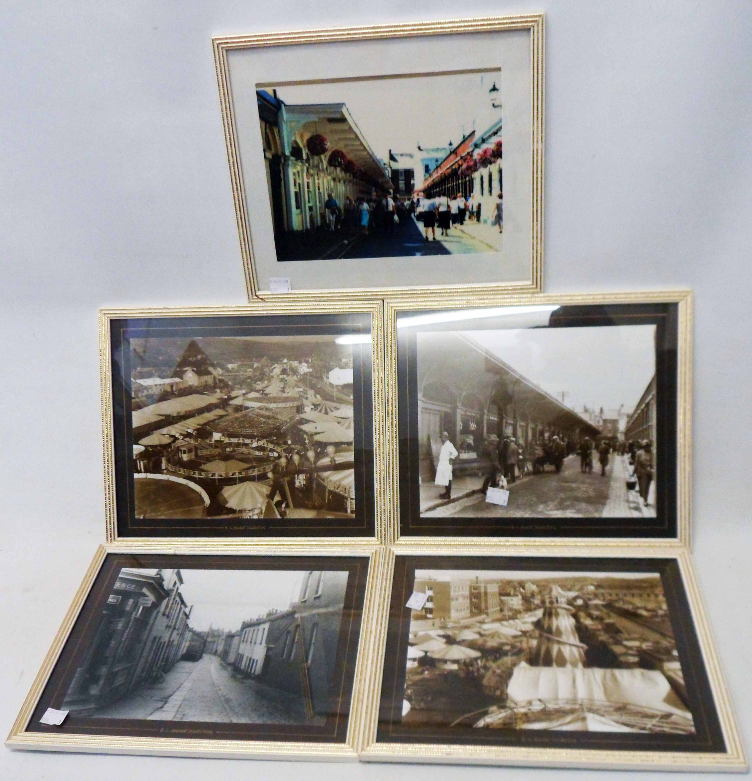 A set of four monochrome photographic prints of Barnstaple from the R.L. Knight collection - sold