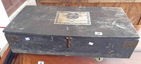 A vintage G.T.L. tool chest (1930's pre-war) with part contents - various condition