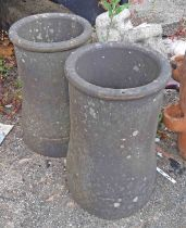 A pair of chimney pots