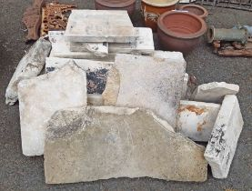 A selection of stone slabs