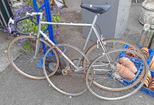 A vintage Claud Butler competition racing bike - sold with the two original tub racing wheels