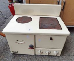 A vintage baby Belling double hob cooker