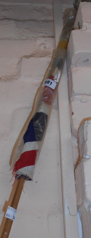 A vintage hand held Union flag