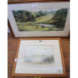 C.H. Glover: a framed watercolour, depicting a view of Torcross - signed and dated '89 - sold with a