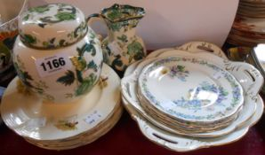 A quantity of assorted china including Masons Chartreuse jug and ginger jar, Coalport Revelry